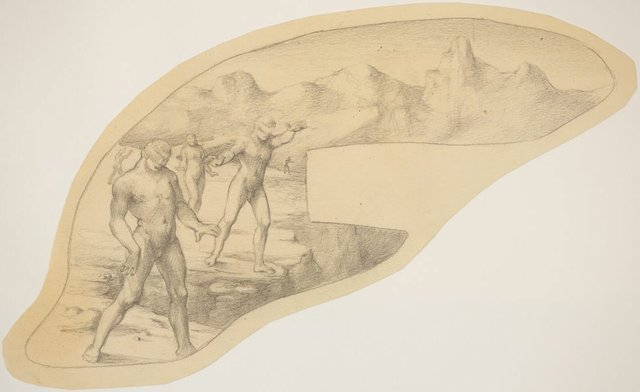 An image of Studies for 'Eau + Feu = Calamite' (Blindfolded figures)