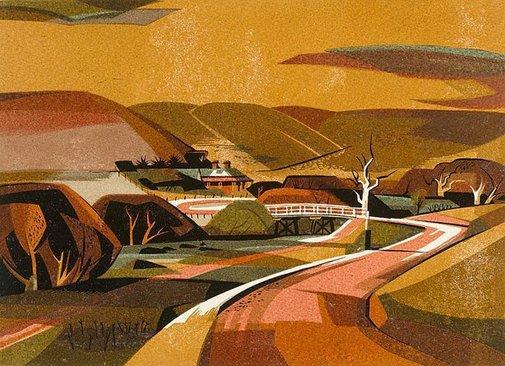 An image of Seven bridges over the Maribyrnong - No 2 Konagaderra by Kenneth Jack