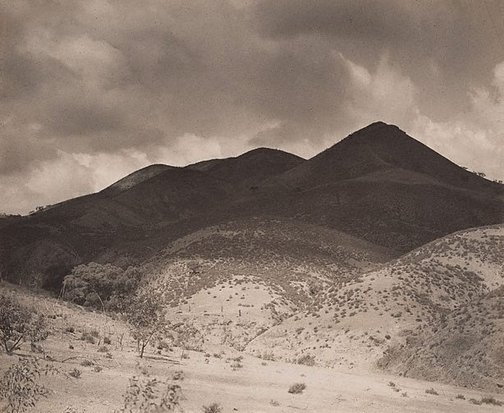 An image of The shadowed hills: the Flinders Ranges by Harold Cazneaux