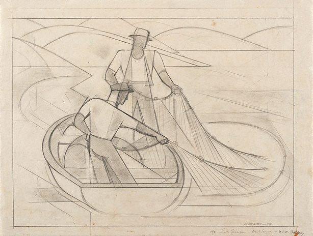 An image of Lake fishermen