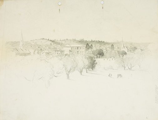 An image of A view of Parramatta by Lloyd Rees