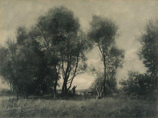 An image of Au passage d'eau by Leonard Misonne
