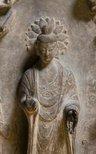 Alternate image of Votive stele of Shakyamuni Buddha flanked by two bodhisattvas by