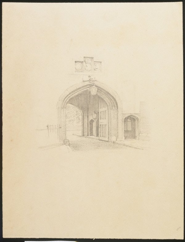 An image of (Study of a doorway)