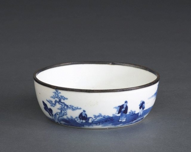An image of Bowl with landscape painting and poem