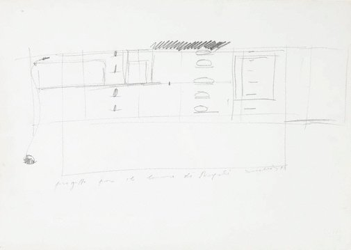 An image of Drawing for 'Untitled 1984' by Jannis Kounellis