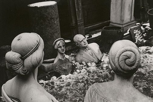 An image of Statue yard, Chiswick, London by Lewis Morley