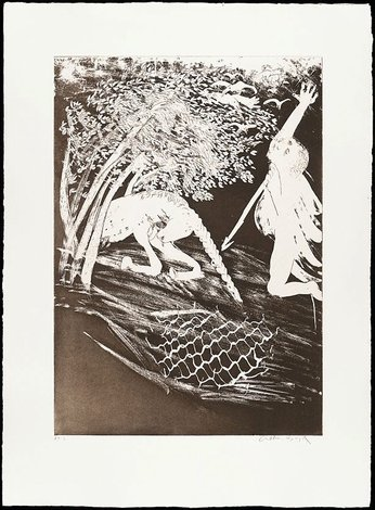 Invocation, 1973-1974, The Lady and the Unicorn by Arthur Boyd
