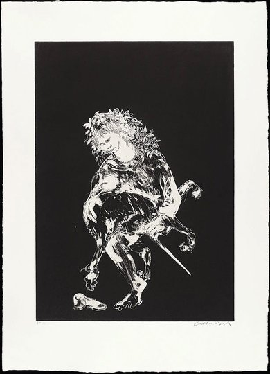 AGNSW collection Arthur Boyd The unicorn's love dance. The lady's acceptance (1973-1974) 13.1989.11