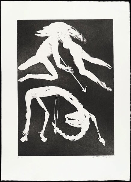An image of The unicorn in love by Arthur Boyd