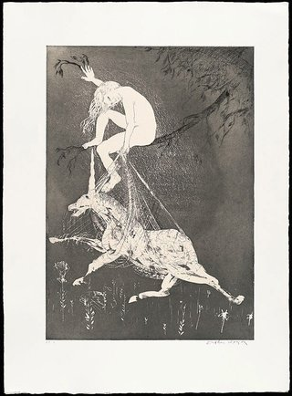 AGNSW collection Arthur Boyd The lady betrays the unicorn I (1973-1974) 13.1989.13