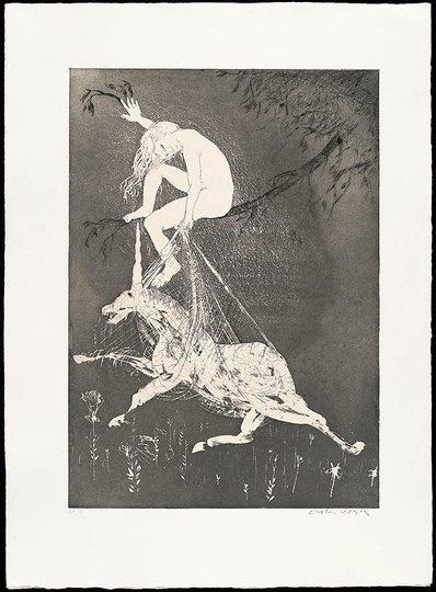 AGNSW collection Arthur Boyd The lady betrays the unicorn I (1973-1974) 13.1989.13