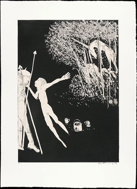 An image of The lady betrays the unicorn II by Arthur Boyd