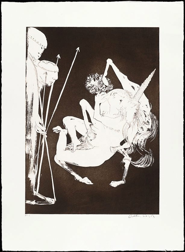 The unicorn before the emperor I, (1973-1974), The Lady and the Unicorn by Arthur Boyd