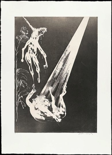 AGNSW collection Arthur Boyd The unicorn and the angel (1973-1974) 13.1989.19