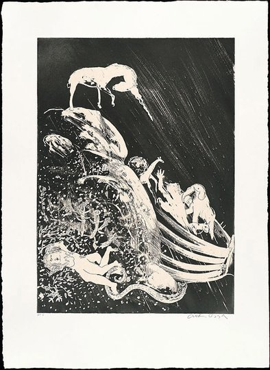 AGNSW collection Arthur Boyd The unicorn and the ark (1973-1974) 13.1989.2