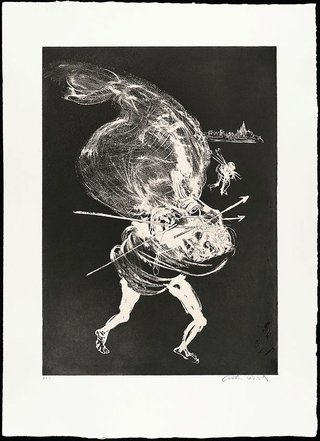 AGNSW collection Arthur Boyd Death of the unicorn I (1973-1974) 13.1989.20