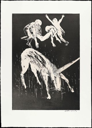 AGNSW collection Arthur Boyd Death of the unicorn II (1973-1974) 13.1989.21