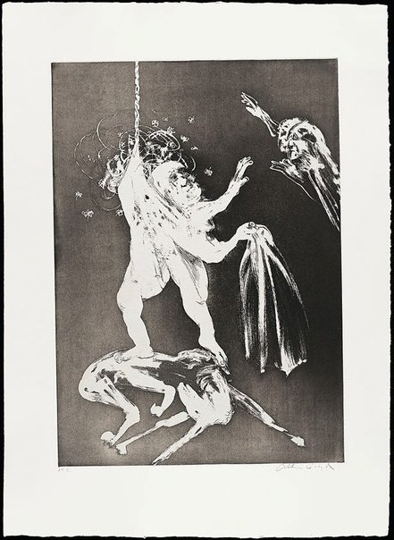 An image of The lady's wedding by Arthur Boyd