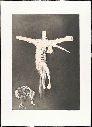 AGNSW collection Arthur Boyd Christ names His cross for the unicorn (1973-1974) 13.1989.4