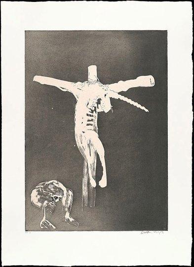 AGNSW collection Arthur Boyd Christ names His cross for the unicorn (1973-1974) 13.1989.4