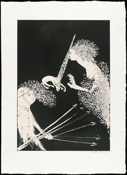 An image of Enter the Emperor I by Arthur Boyd
