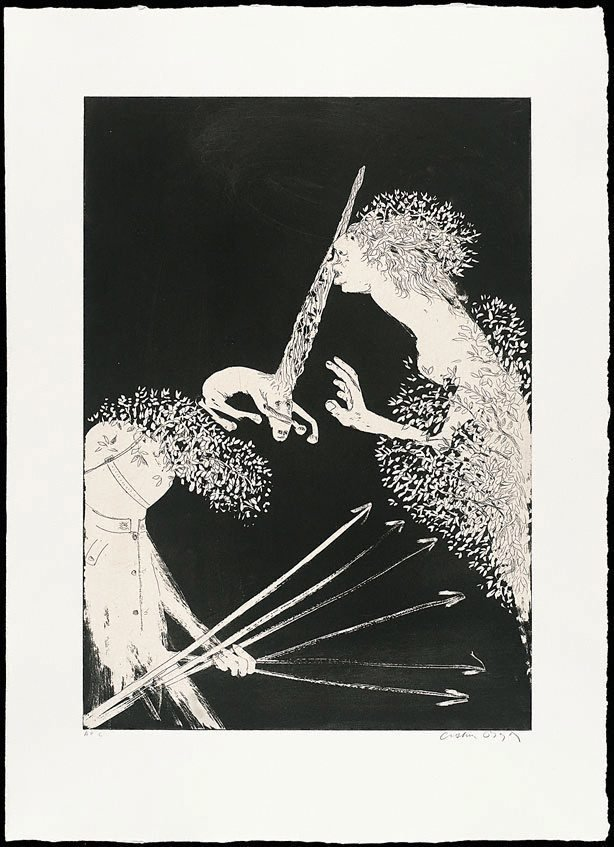 Enter the Emperor I, (1973-1974), The Lady and the Unicorn by Arthur Boyd
