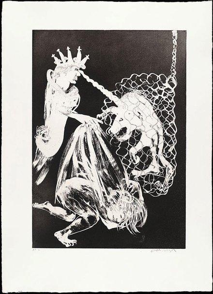 An image of Enter the Emperor II by Arthur Boyd