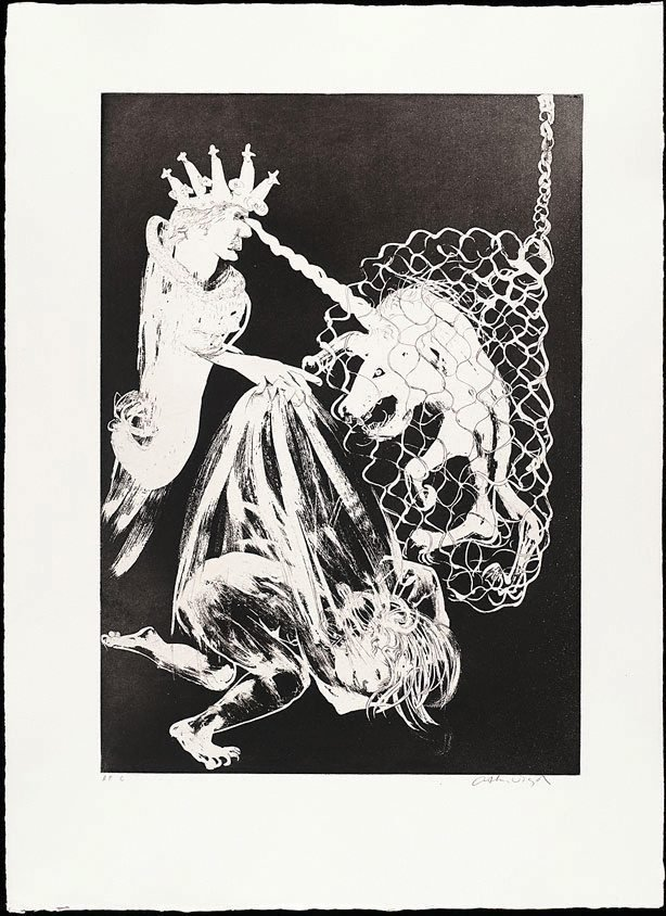 Enter the Emperor II, (1973-1974), The Lady and the Unicorn by Arthur Boyd