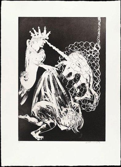 AGNSW collection Arthur Boyd Enter the Emperor II (1973-1974) 13.1989.7