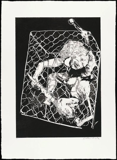AGNSW collection Arthur Boyd The hunters set out to trap the unicorn I (1973-1974) 13.1989.8