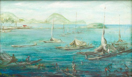 An image of Koki Bay by William Dobell