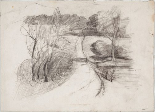 An image of recto: Study for 'Dusk at North Ryde' verso: Landscape by Lloyd Rees