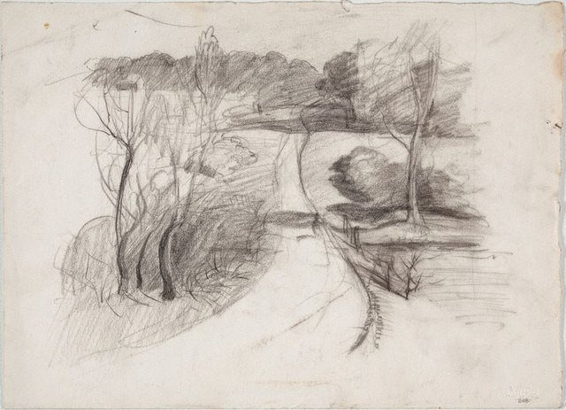 An image of recto: Study for 'Dusk at North Ryde' verso: Landscape