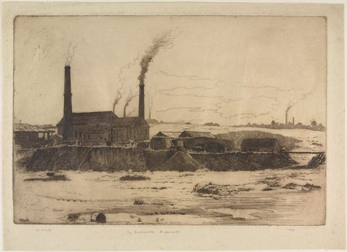 An image of Brickworks, St Leonards by Sydney Ure Smith