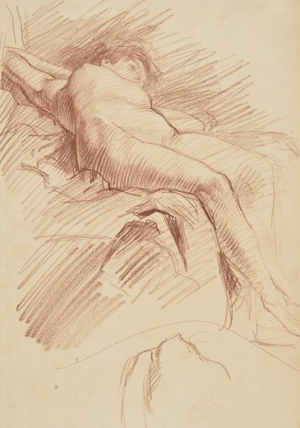 An image of Untitled (Reclining female nude) by Frank Mahony