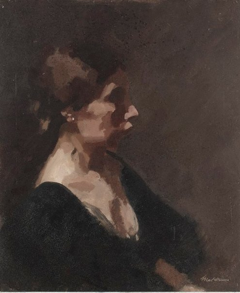 An image of Portrait of the artist's daughter Ida Meldrum by Max Meldrum