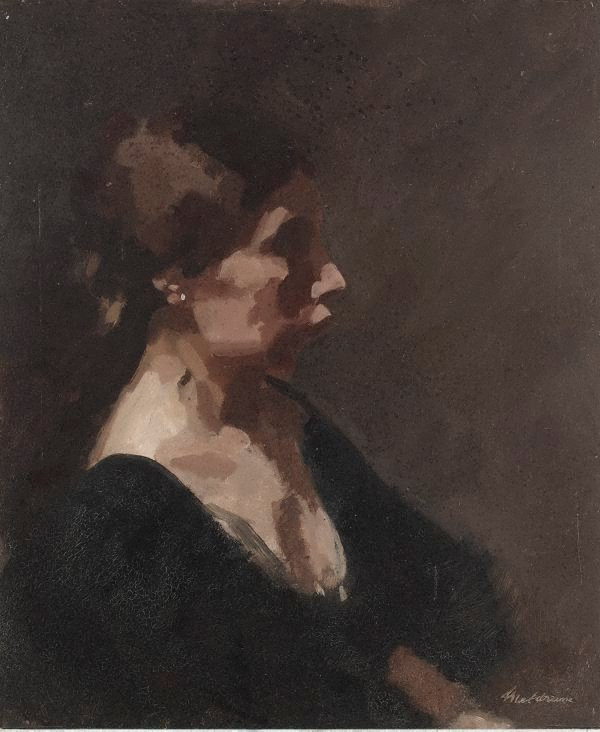 An image of Portrait of the artist's daughter Ida Meldrum