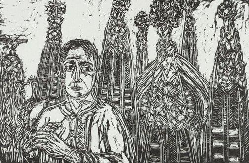 An image of Gaudi's 'La Sagrada Familia' by Salvatore Zofrea