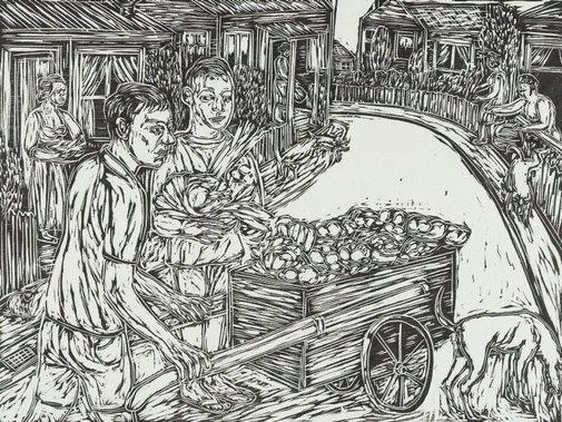 An image of Selling vegetables door to door by Salvatore Zofrea