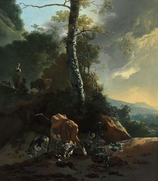 AGNSW collection Adam Pynacker Landscape with enraged ox (1665-1670) 130.2004