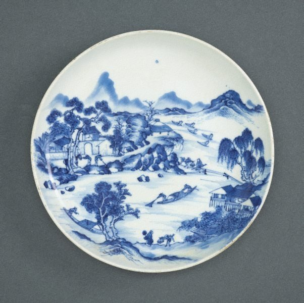 An image of Plate with a landscape scene