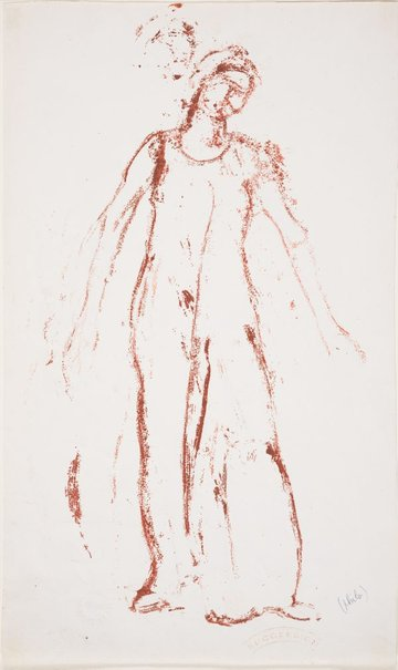 An image of Study of a standing female figure by Ferdinand Hodler