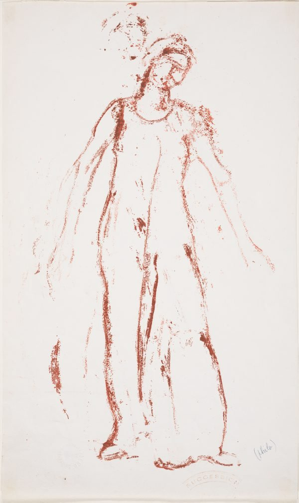 An image of Study of a standing female figure