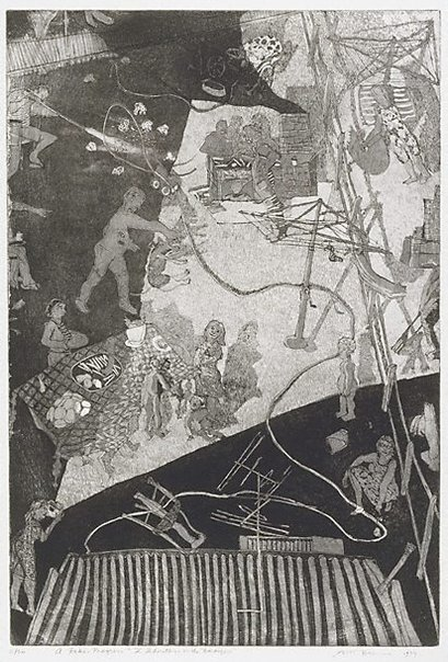 An image of The inheritance or the barbeque by Ron McBurnie