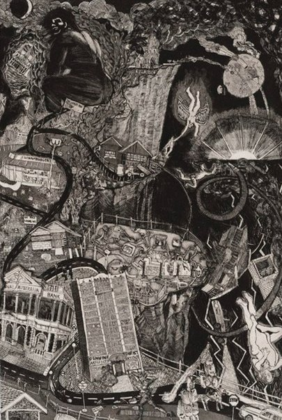 An image of Into the abyss by Ron McBurnie