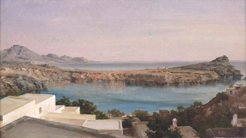 An image of Lindos, Rhodes by Frederic, Lord Leighton