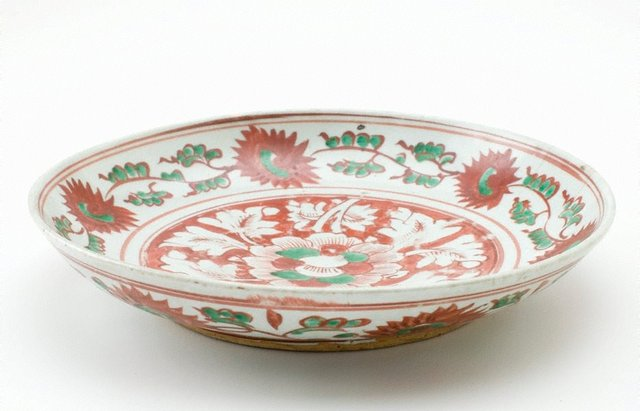 An image of Dish decorated with floral motifs