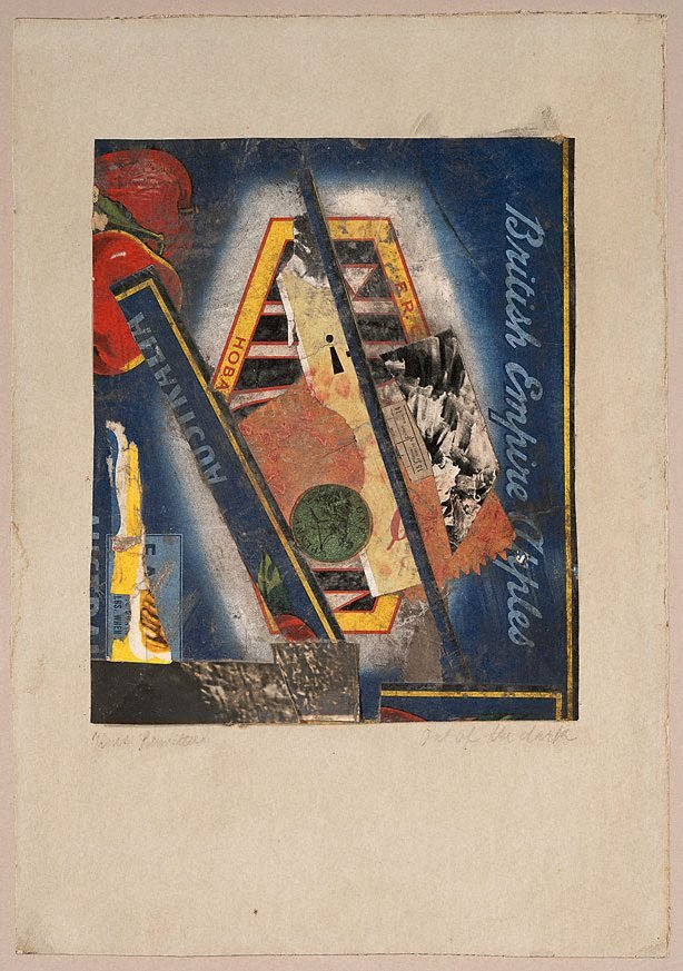 Out of the dark, (1943) by Kurt Schwitters