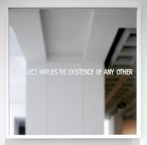 An image of No object implies the existence of any other by Ian Burn